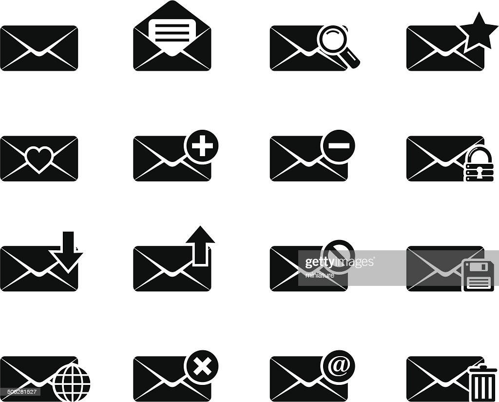 envelope and mail icons