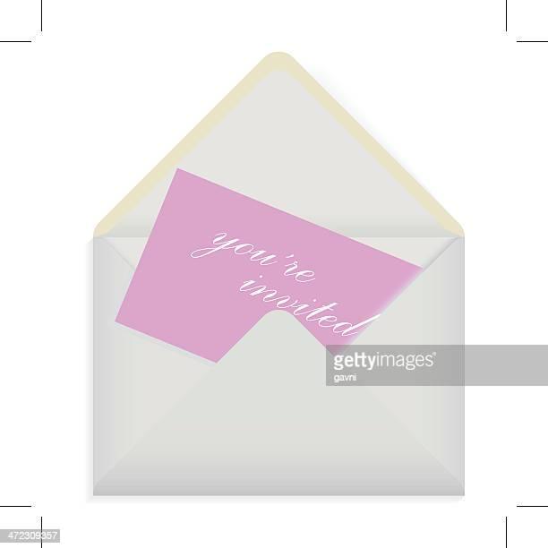envelope card - wedding invitation stock illustrations, clip art, cartoons, & icons
