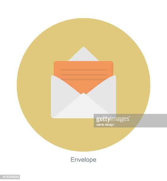 stockillustraties, clipart, cartoons en iconen met envelop, document met apenstaartje. e-mailadres, e-mail, binnenkomende bericht - e mail