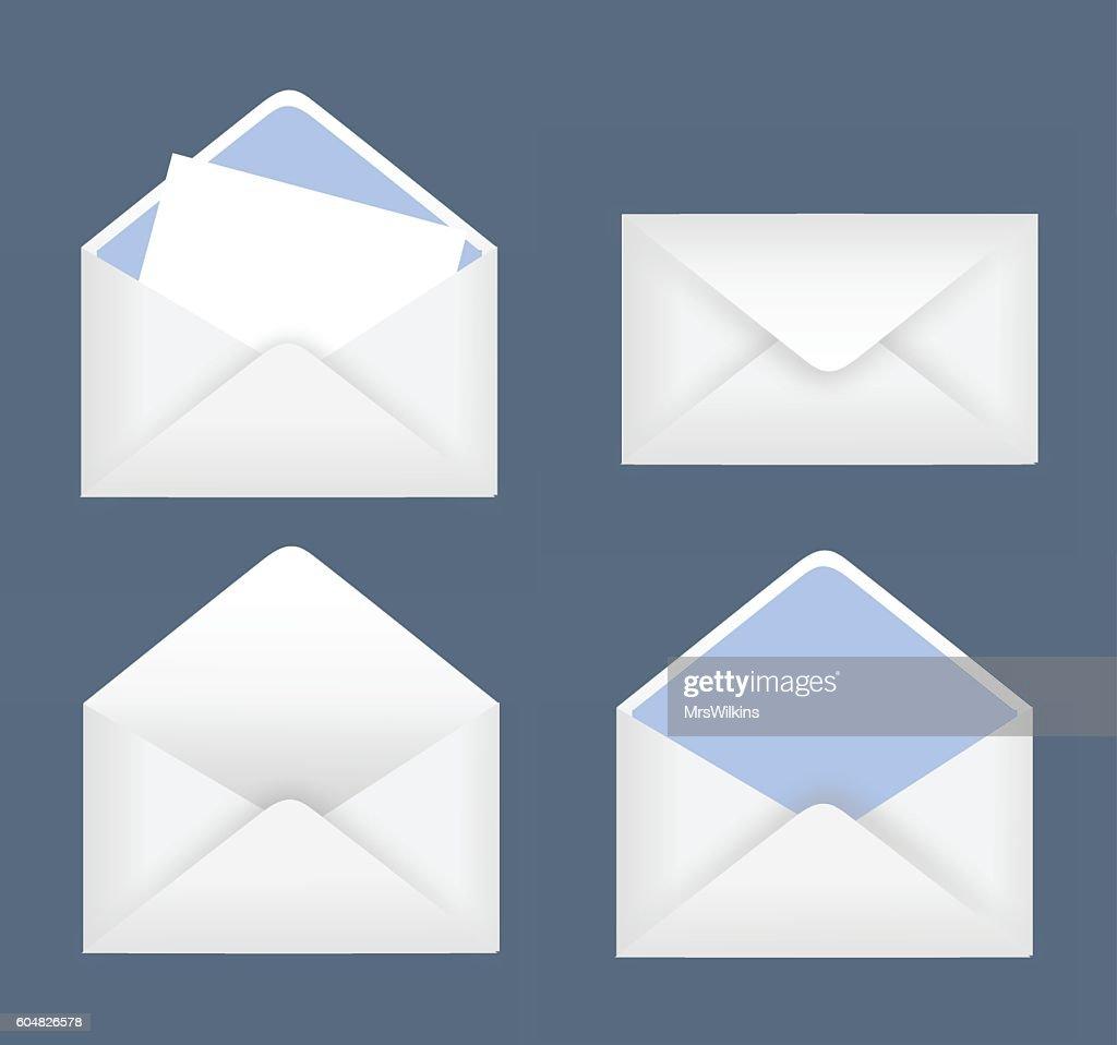 Envelope set vector illustration