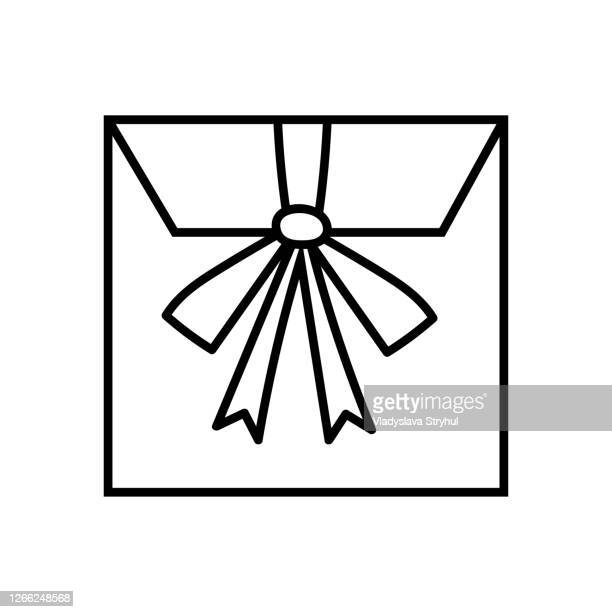envelope with bow present office stationery
