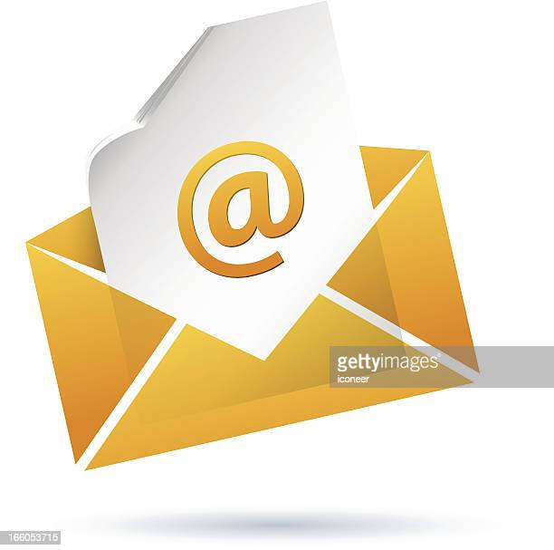 envelope with e-mail - e mail spam stock illustrations