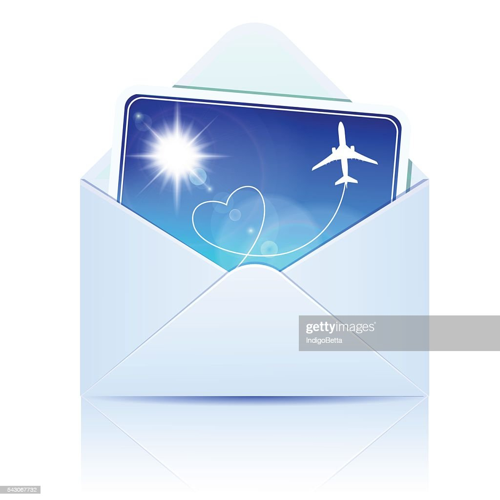 Envelope with paper card