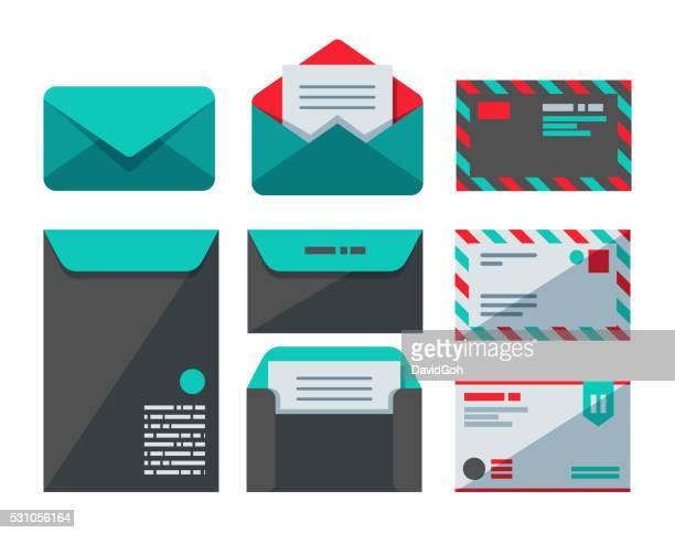 Envelopes Flat Design Set