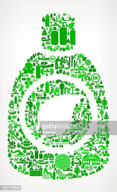 ilustrações, clipart, desenhos animados e ícones de detergentes saúde ambiental e bem-estar ícone definir padrão de fundo - composição