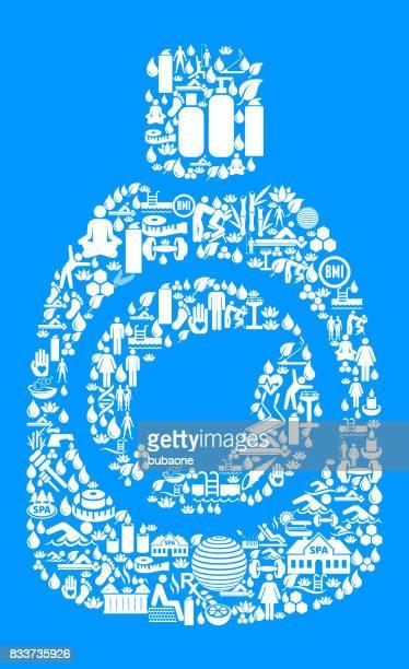 ilustrações, clipart, desenhos animados e ícones de detergentes saúde ambiental e bem-estar ícone definir fundo azul - composição