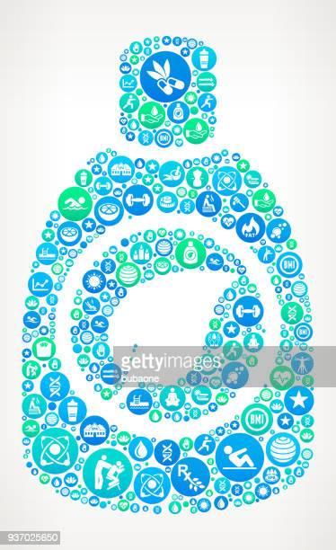 ilustrações, clipart, desenhos animados e ícones de ambiental detergente spa e wellness vector ícone padrão - composição