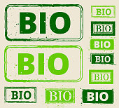 Environment and Bio Green Rubber Stamps