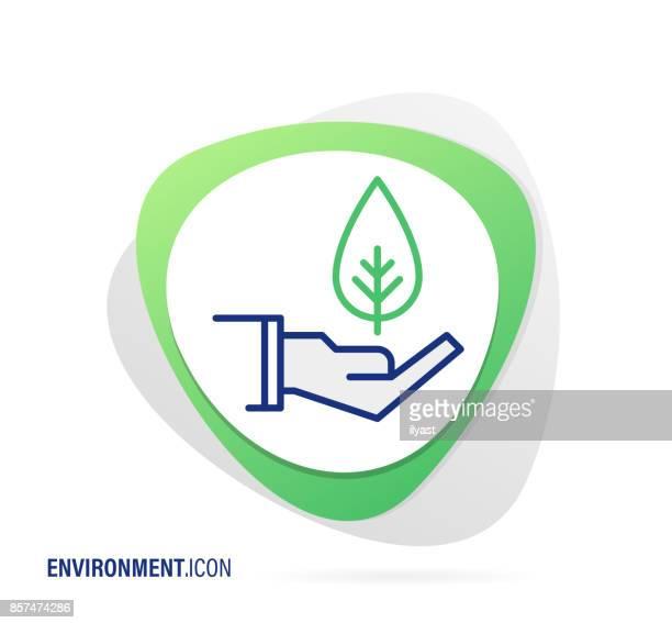 ilustraciones, imágenes clip art, dibujos animados e iconos de stock de medio ambiente icono - ecosistema