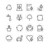 Environment Icons set 1 | Black Line series