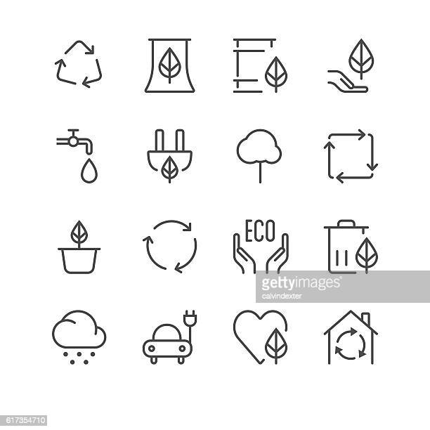 Environment Icons set 1 | Black Line series