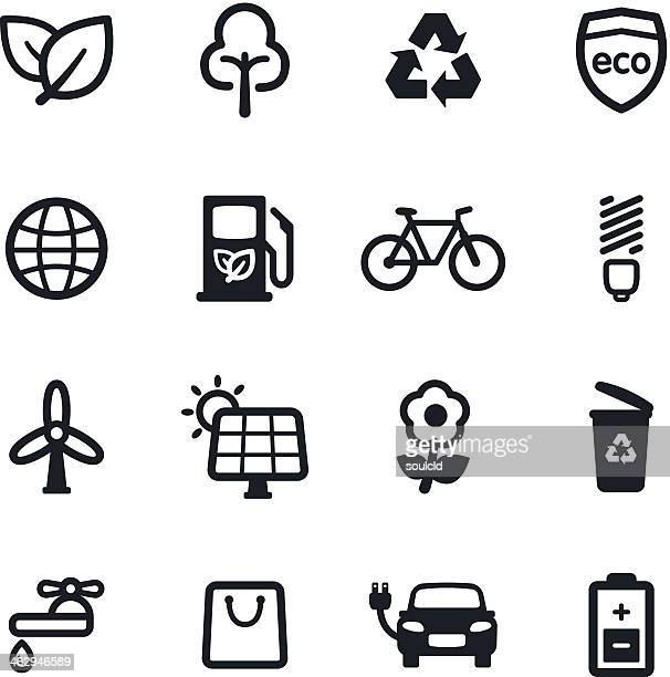 environment icons - biodiesel stock illustrations, clip art, cartoons, & icons