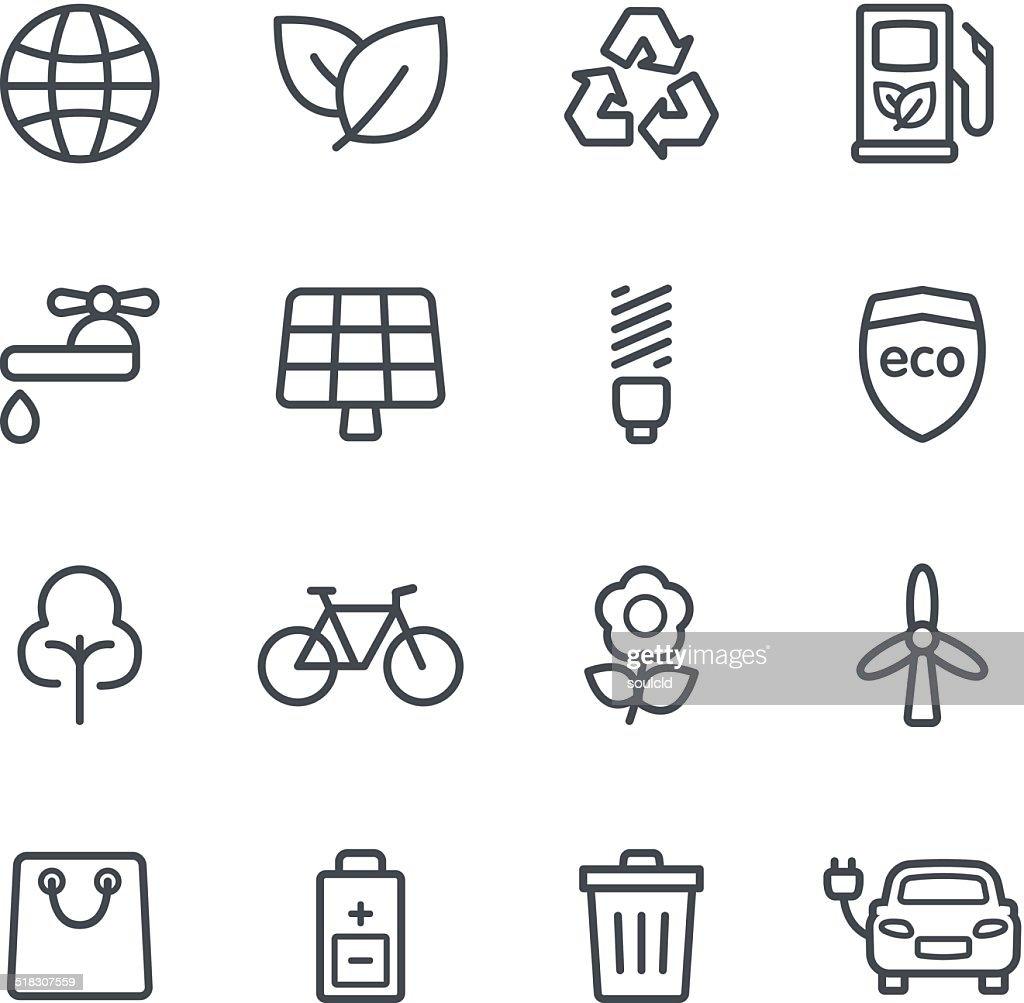 Umwelt-Symbole : Stock-Illustration