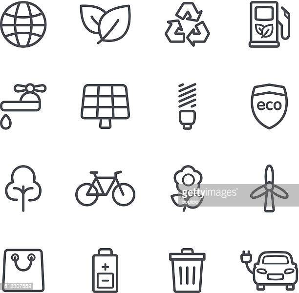 environment icons - single flower stock illustrations