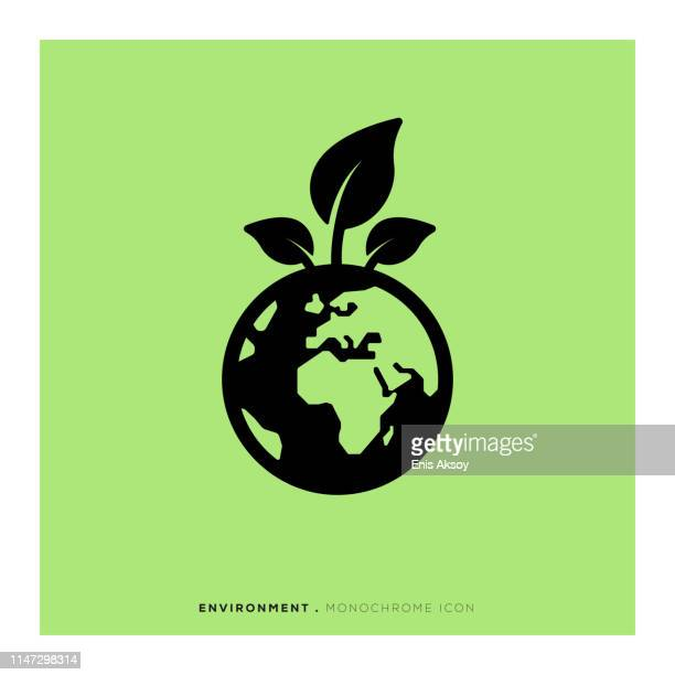 environment monochrome icon - earth day stock illustrations