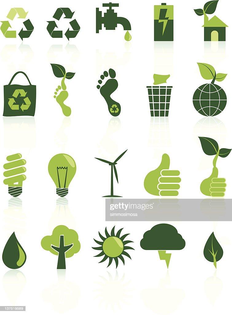Environment Recycle Icon Set