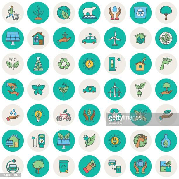 Environment Thin Line Icon Set