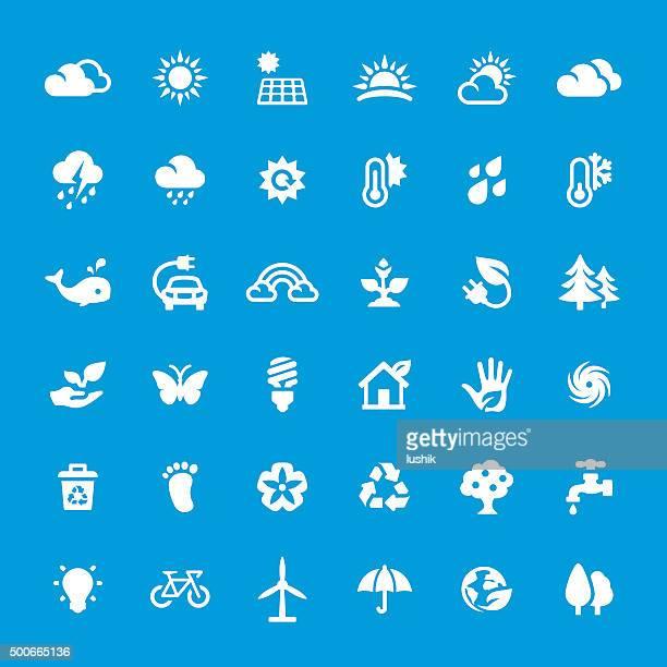 Umwelt Vektor-icons-set