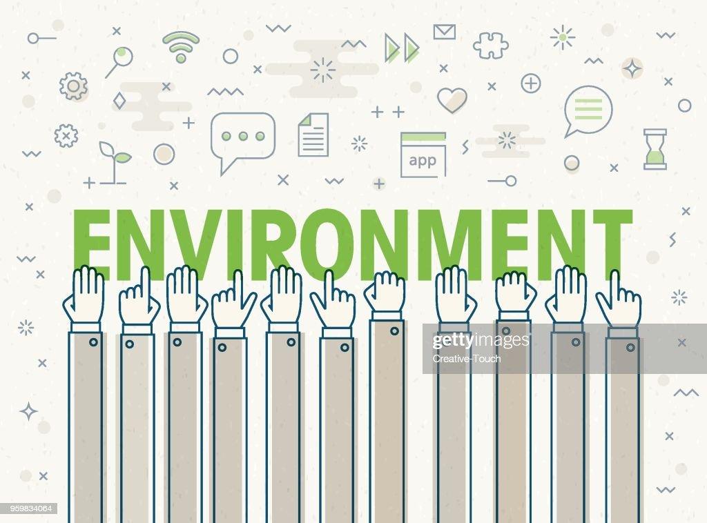Umwelt : Stock-Illustration
