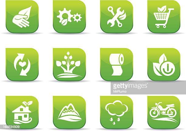 environmental conservation icons - moped stock illustrations, clip art, cartoons, & icons