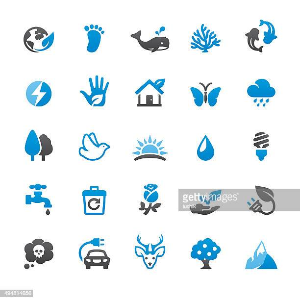 Environmental Conservation related vector icons