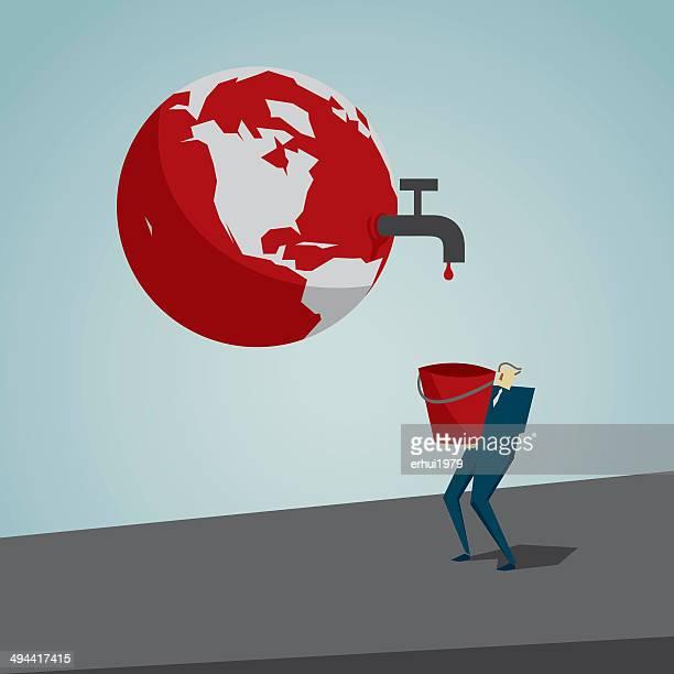 environmental conservation - dehydration stock illustrations, clip art, cartoons, & icons
