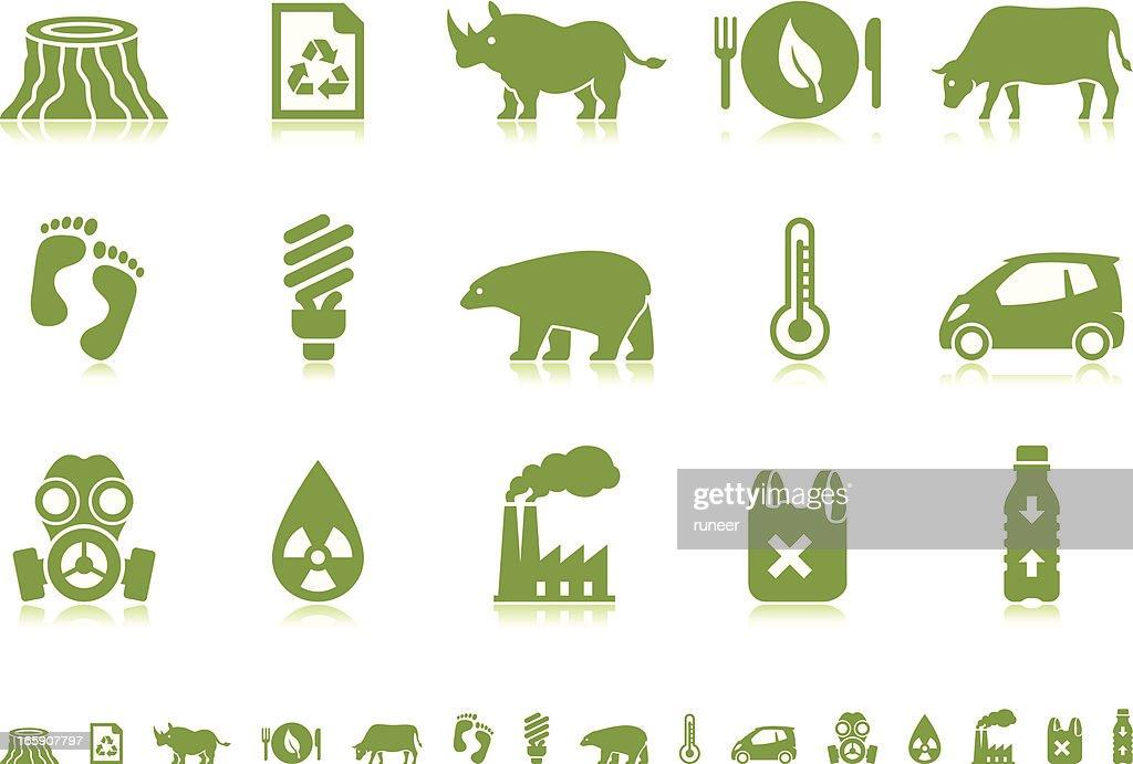 Environmental Crisis icons   Pictoria series : stock illustration