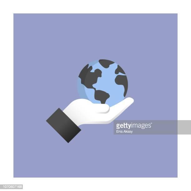 environmental engineering icon - social responsibility stock illustrations