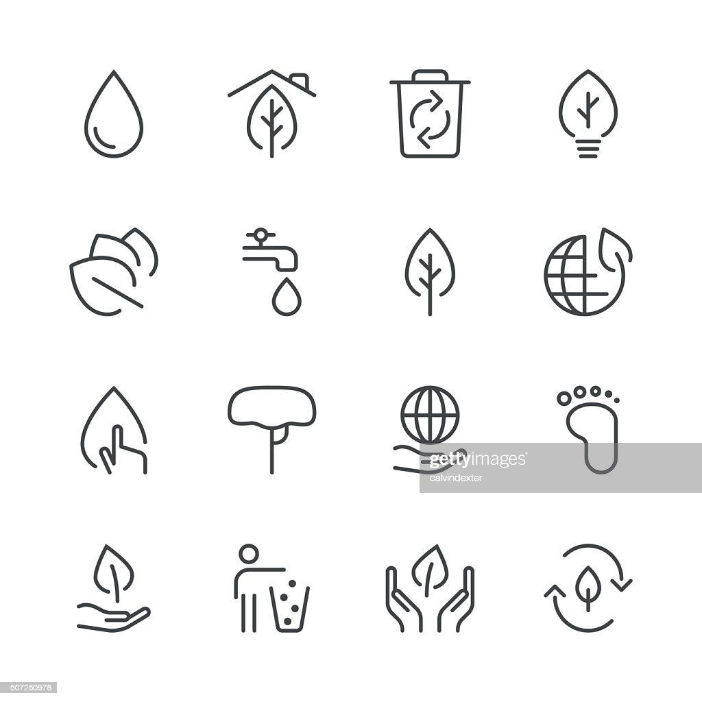 Environmental Icons set 1 | Black Line series