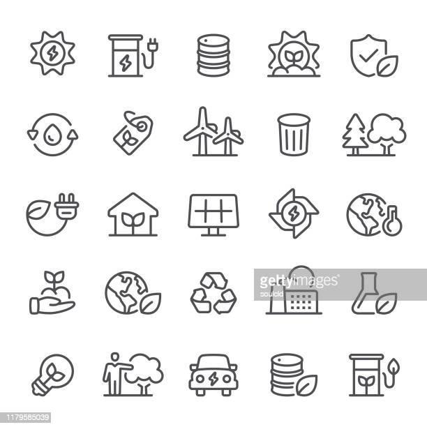 stockillustraties, clipart, cartoons en iconen met milieu-iconen - klimaat