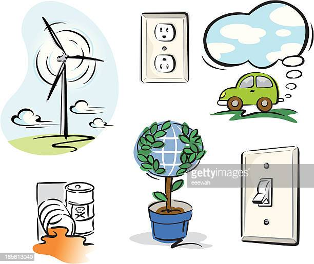 environmental issues - switch stock illustrations, clip art, cartoons, & icons