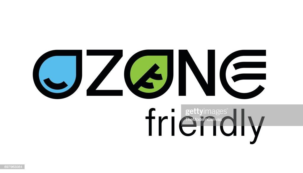 Environmental ozone friendly eco concept icon design