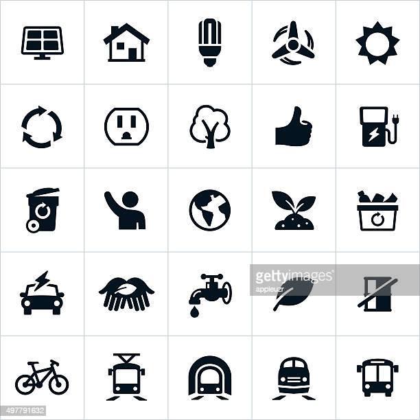 Ícones de protecção ambiental