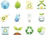 Environmental & Recycle Icons Set