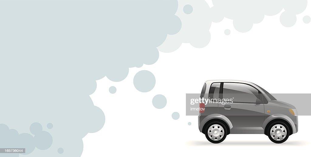 Environmentally friendly car exhausting water vapor