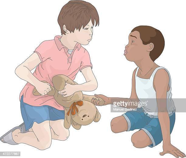 illustrations, cliparts, dessins animés et icônes de jalousie fille - racisme