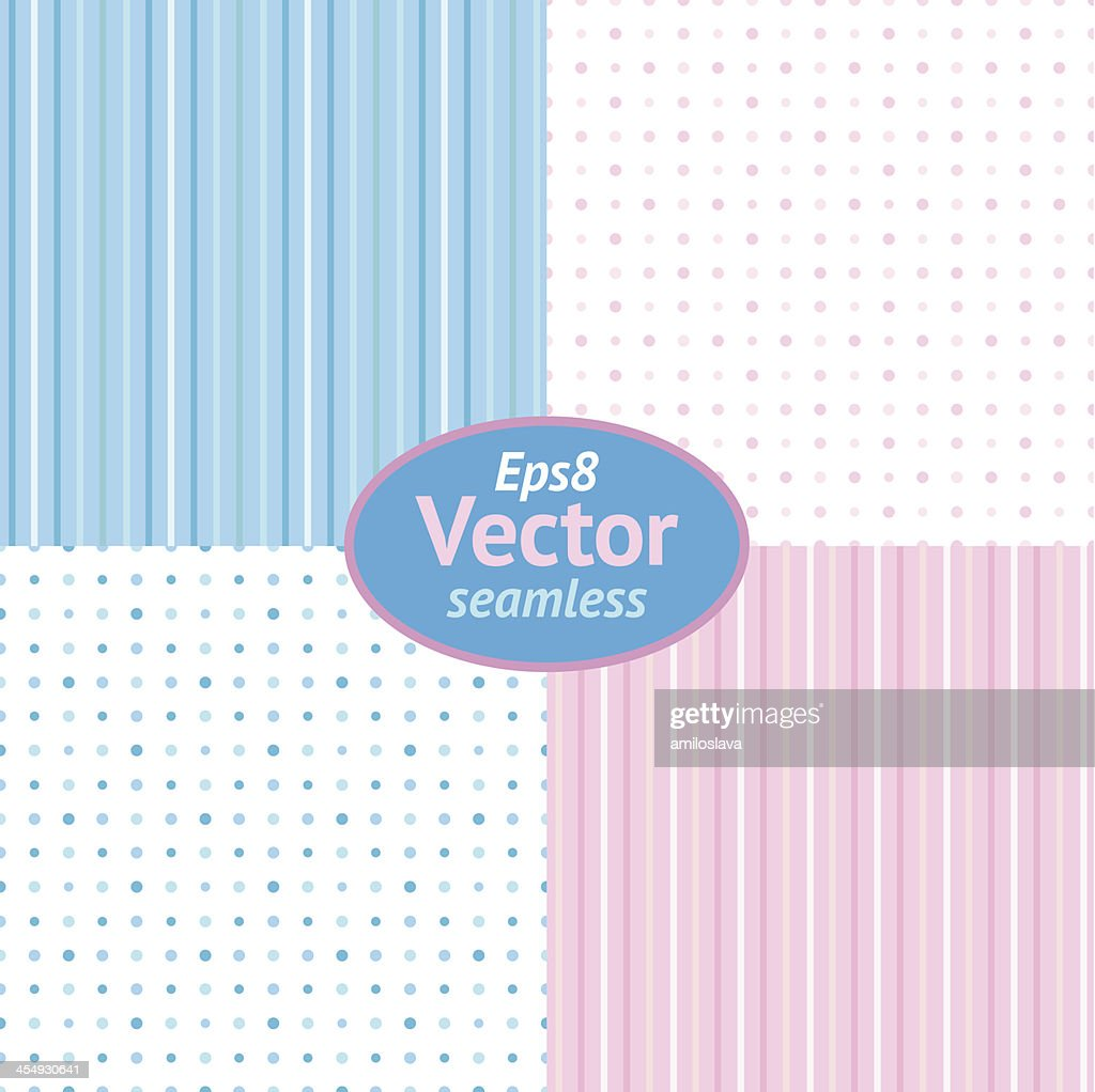 Eps8 Vector Seamless Light Blue and Pink Background