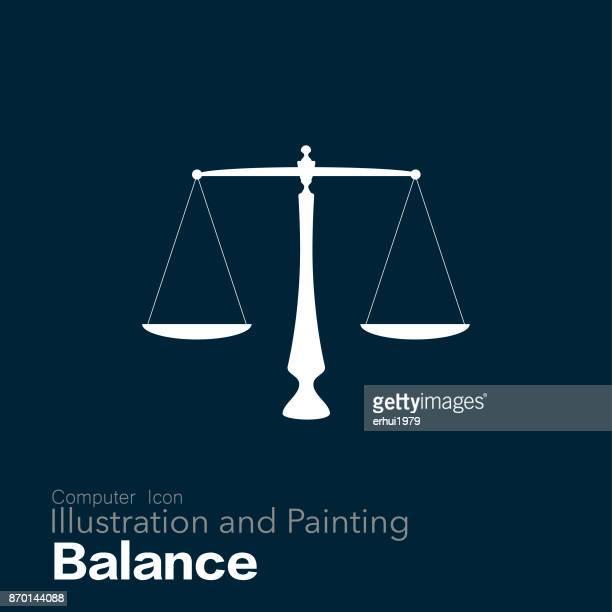 ilustraciones, imágenes clip art, dibujos animados e iconos de stock de equilibrio del brazo de igual - balanzas de la justicia