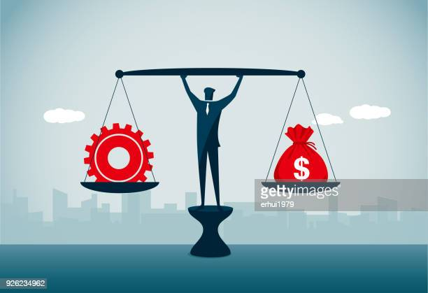 equal-arm balance - scales stock illustrations