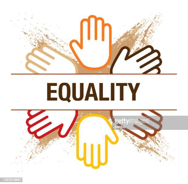 equality concept with hand palms in circle on grunge background - respect stock illustrations