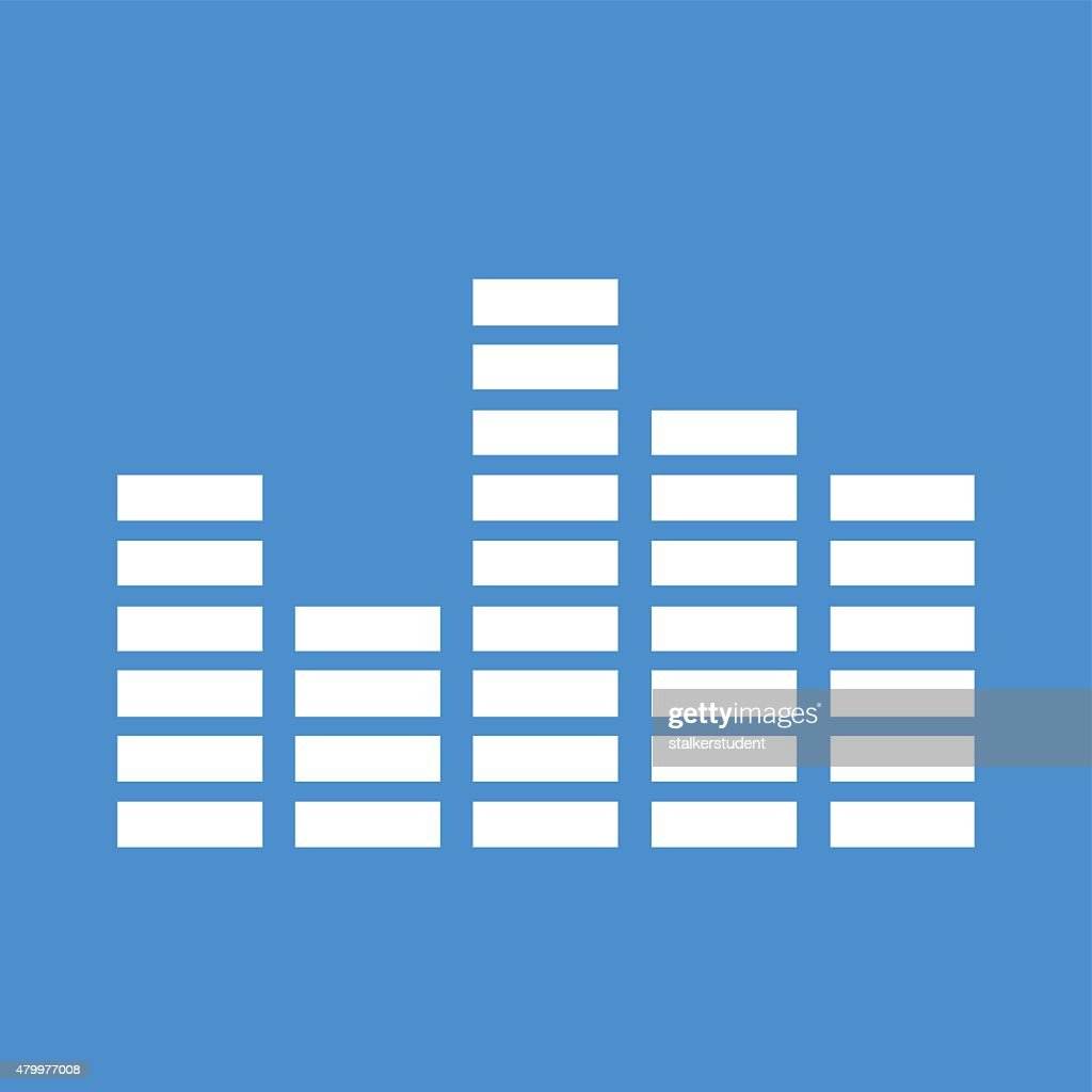 Equalizer icon. Flat