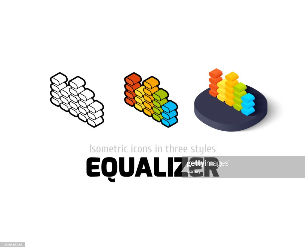 Equalizer icon in different style