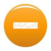Equalizer sonic icon vector orange