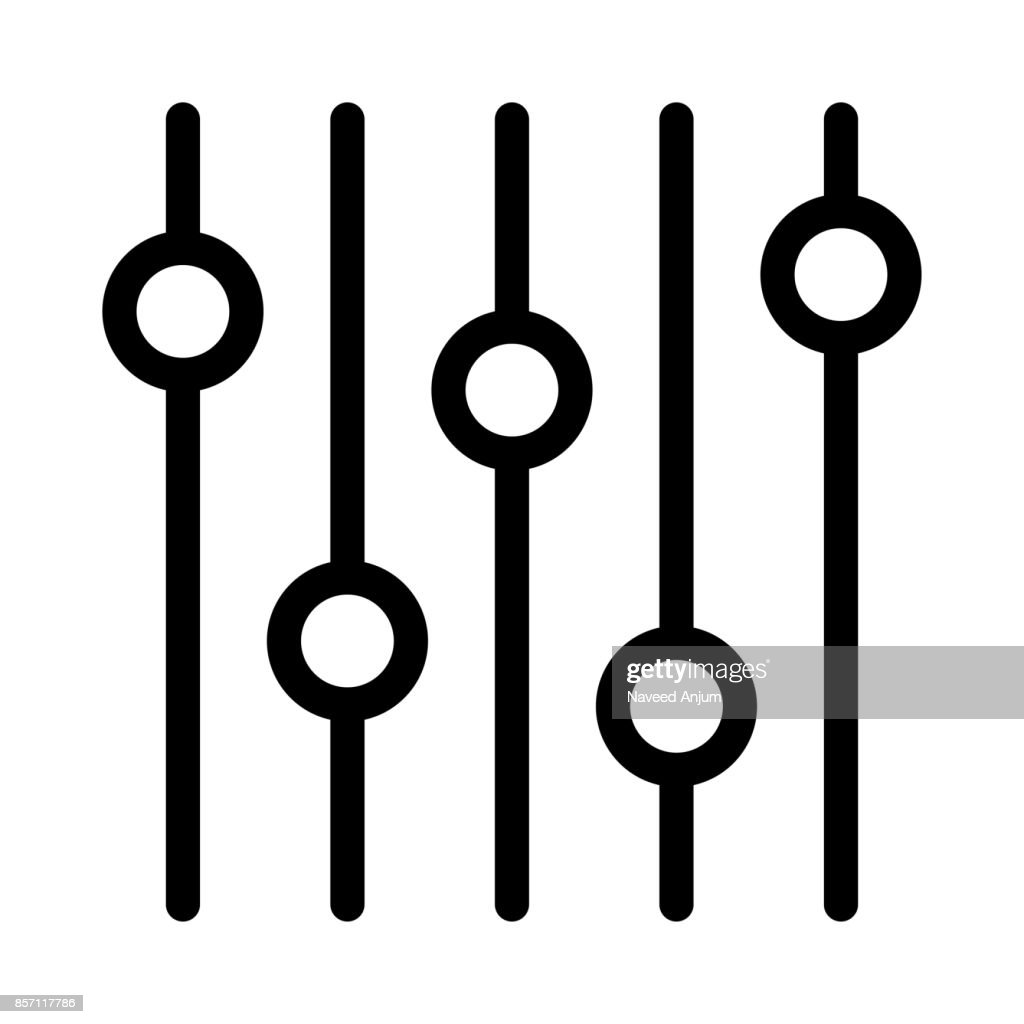 Equalizer Thin Line Vector Icons
