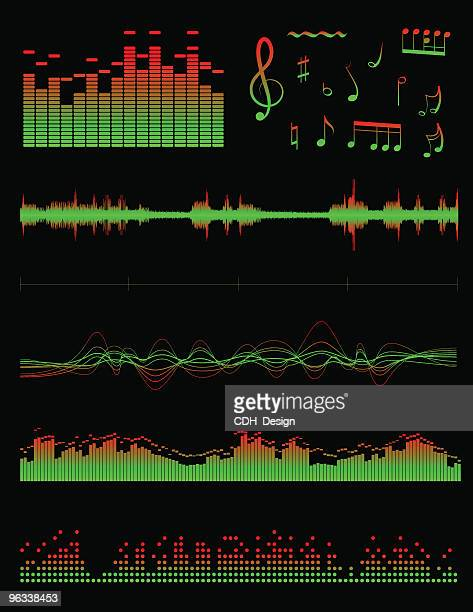 equalizers and sound - soundtrack stock illustrations, clip art, cartoons, & icons