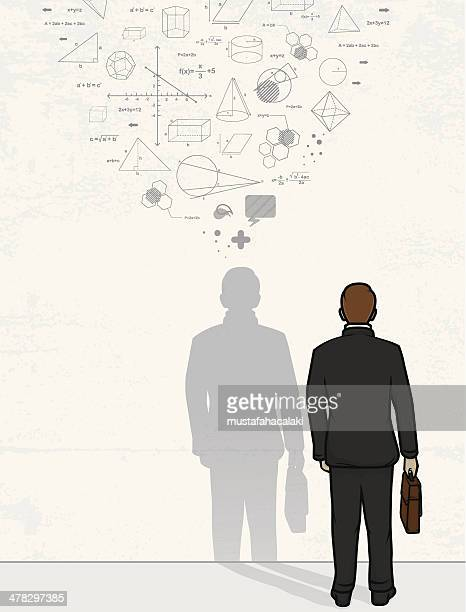 Equations of businessman