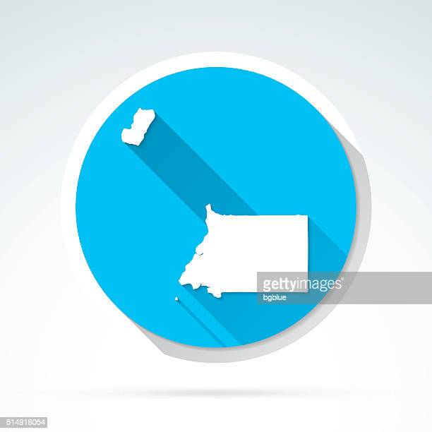stockillustraties, clipart, cartoons en iconen met equatorial guinea map icon, flat design, long shadow - bloco