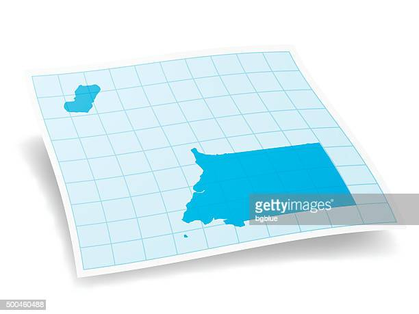 stockillustraties, clipart, cartoons en iconen met equatorial guinea map isolated on white background - bloco