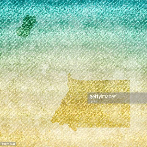 stockillustraties, clipart, cartoons en iconen met equatorial guinea map on grunge canvas background - bloco