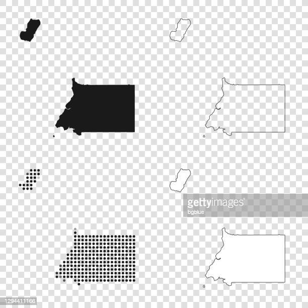 equatorial guinea maps for design - black, outline, mosaic and white - equatorial guinea stock illustrations